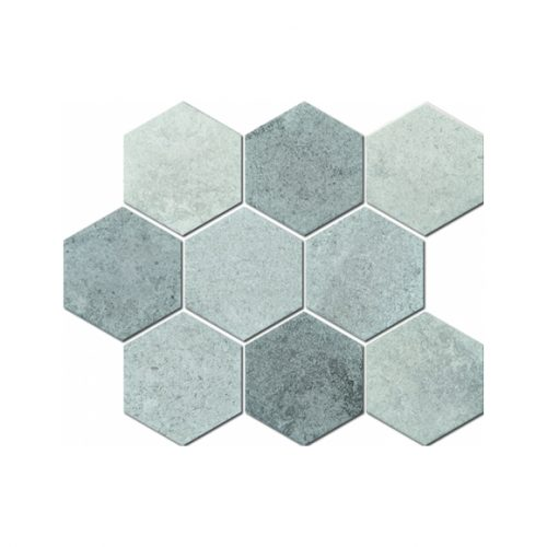 Mozaika - Mozaika Marble hexagon MIX 95x110mm