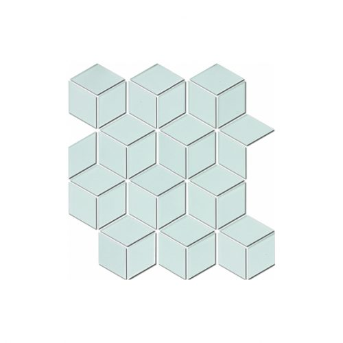 Mozaika - Mozaika Diamond hex white matt 48x48
