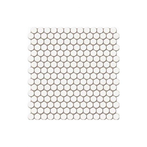 Mozaika - Mozaika Penny round white matt 19mm
