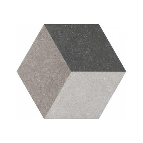 Grindų plytelės - Traffic 3D Hexagon